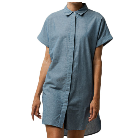 MELAWEAR - Women's Amoli Blusenkleid - Kleid Gr M grau/schwarz 151-501-bcha-M
