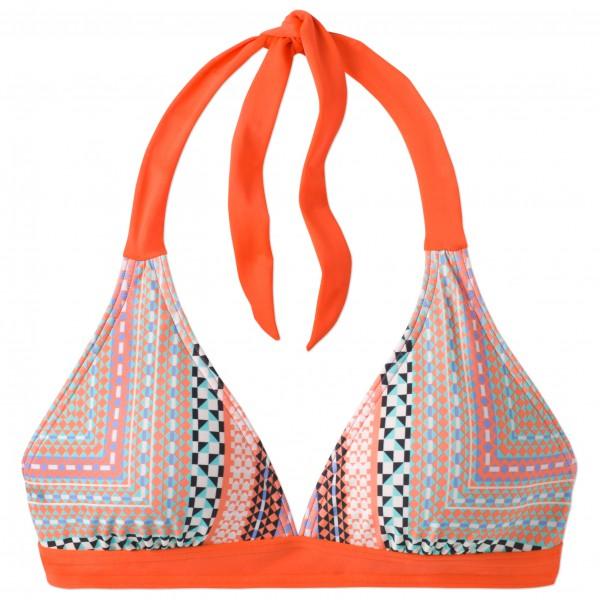 Prana - Women´s Lahari Halter Bikini-Oberteil Gr S grau/beige/rot/orange Sale Angebote
