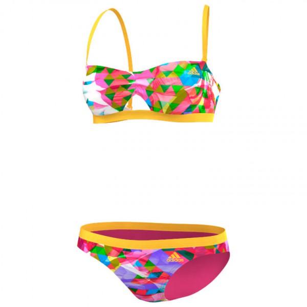 Women´s Beach Bandeau Bikini - Bikini Gr 40 - C rosa/orange