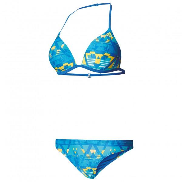 adidas Women´s Bwgrii Allover Triangle Bikini Bikini maat 42 Cup: B blauw-turkoois-grijs