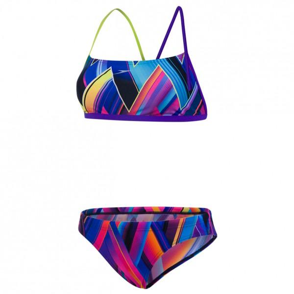 Speedo Women�s Diamondize 2 Piece Crossback Bikini maat 38 purper-blauw-roze