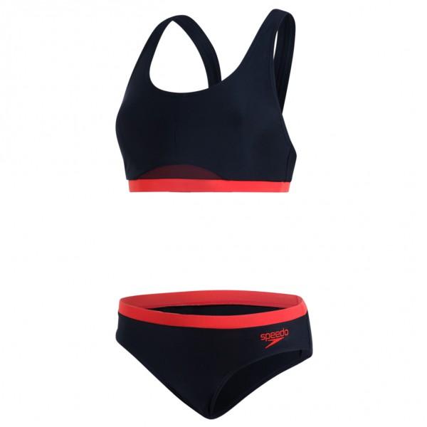 Speedo Women�s Hydractive 2 Piece Bikini maat 40 zwart-rood