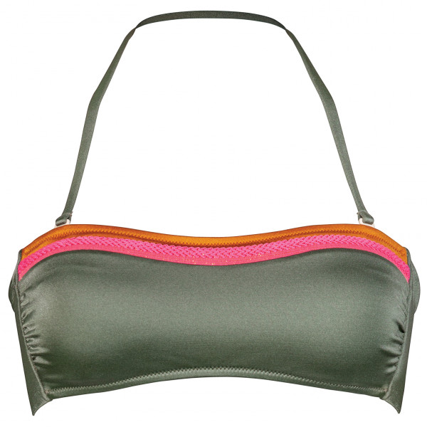 #Watercult – Women's Colour Clash Bandeau Top – Bikini-Top Gr 36;38;40;42;44 grau/oliv#
