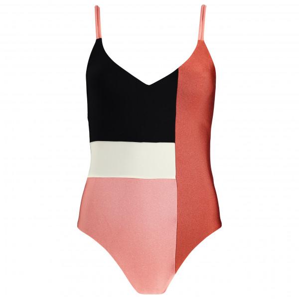 Asics - Womens V-neck S/s Top - Running Shirt Size Xl  Black/sand