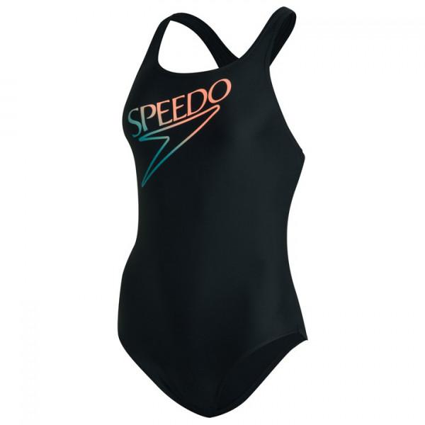 Speedo - Women's Printed Medalist - Maillot de bain taille 34, noir