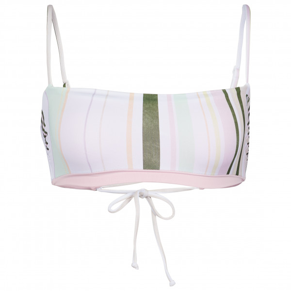 Roxy - Womens SeaandWaves Revo Reversible Bandeau Bikini Top - Bikini Top Size L  Sand