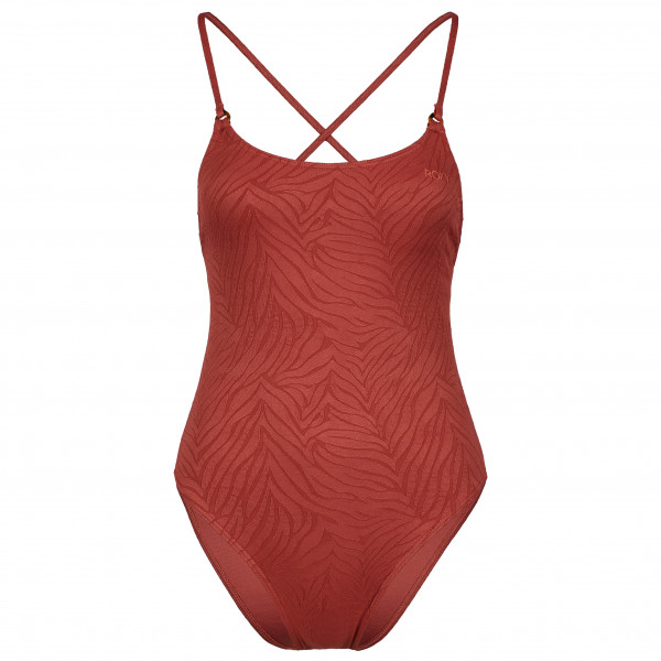 Roxy - Womens Wild Babe One-piece Swimsuit - Swimsuit Size L  Sand/red