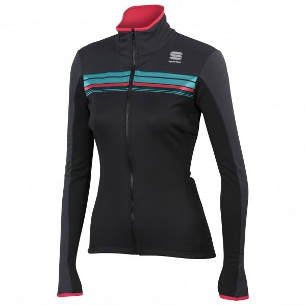 Sportful - Women´s Allure Softshell Jacket Fahrradjacke Gr L;M;S;XL schwarz;rot/lila