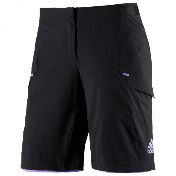 adidas Women´s Trail Race Shorts Fietsbroek maat L zwart