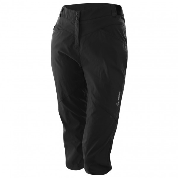 Lffler - Womens 3/4 Bike Pants Comfort-stretch-light - Cycling Bottoms Size 40  Black