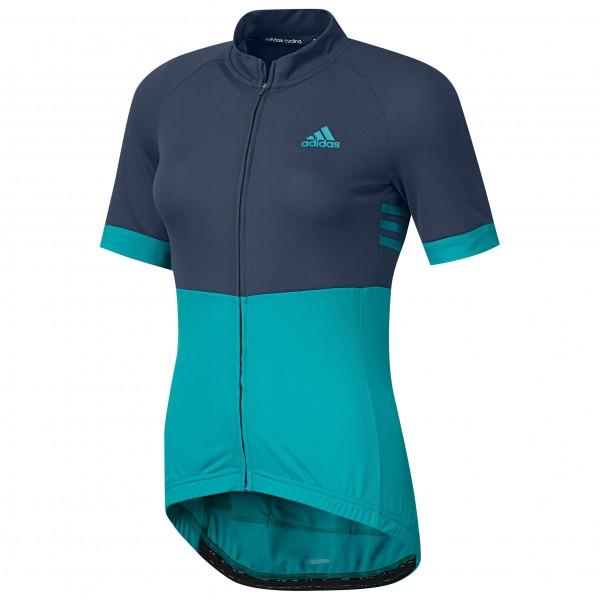 adidas Women´s Response Team S-S Jersey Fietsshirt maat M blauw-turkoois