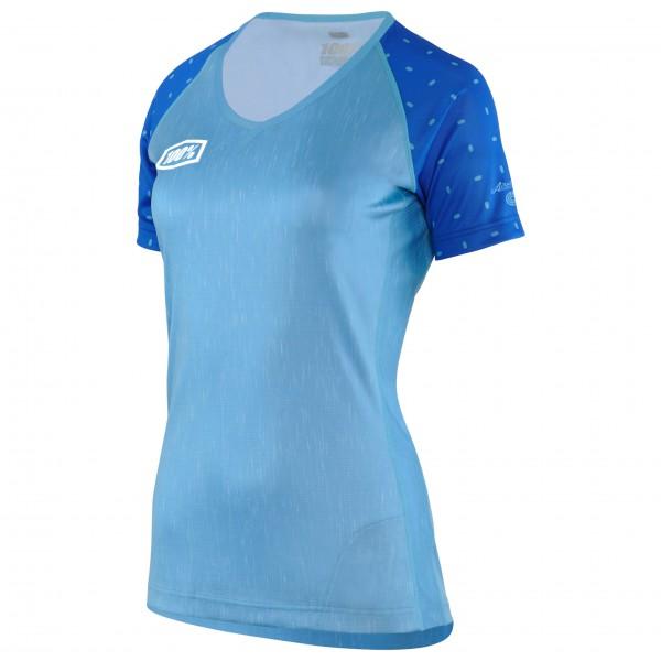 Image of 100% Airmatic Skylar Women Enduro/Trail Jersey Radtrikot Gr L blau/grau