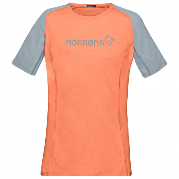 #Norrøna – Women's Fjørå Equaliser Lightweight T-Shirt – Radtrikot Gr L orange/grau#