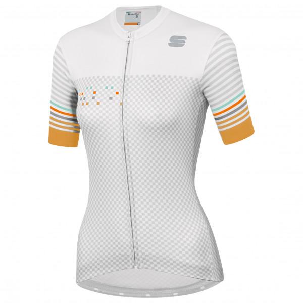 Sportful - Womens Sticker Jersey - Cycling Jersey Size Xl  Grey/white