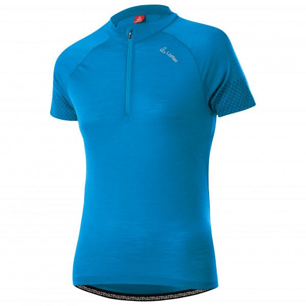 Lffler - Womens Bike Jersey Half-zip Merino-tencel - Cycling Jersey Size 40  Blue