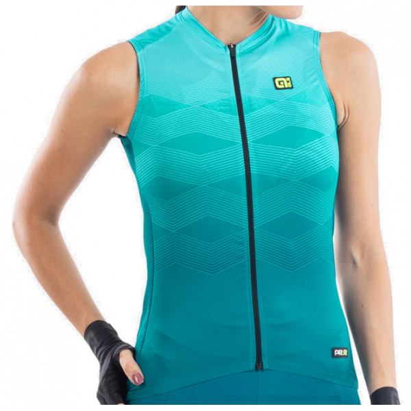 Al - Womens Magnitude Sleeveless Jersey - Cycling Singlet Size Xl  Turquoise/sand