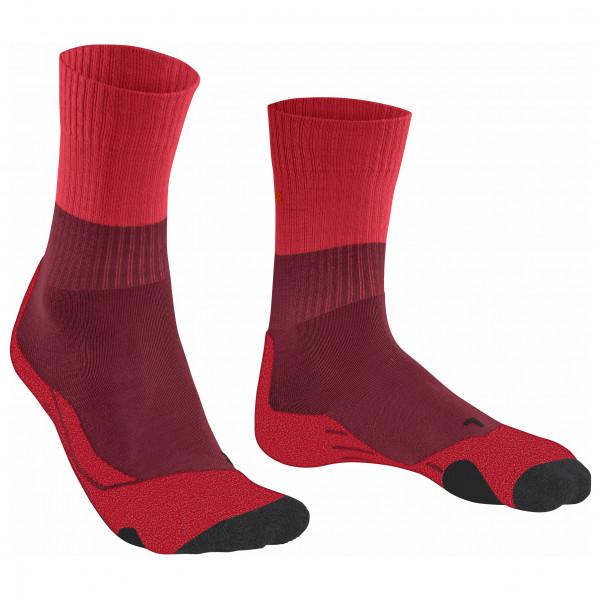 Falke - Women´s TK2 Trekkingsocken Gr 35-36;37-38;39-40;41-42 schwarz/grau;beige/grau/schwarz;blau/grau/schwarz;rot;blau/schwarz;grau/schwarz;rot/rosa