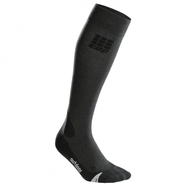 CEP - Women's Outdoor Merino Socks - Kompressionssocken - Gr. IV, grau/schwarz