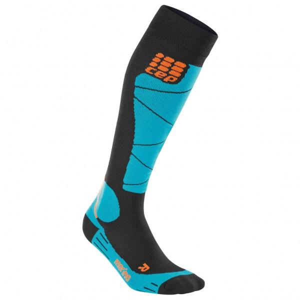 CEP Women´s Ski Merino Socks Compressiesokken maat II, black- azur