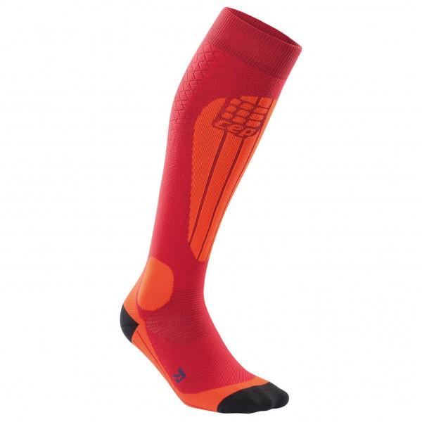 CEP Women´s Ski Thermo Socks Compressiesokken maat II, cranberry -orange