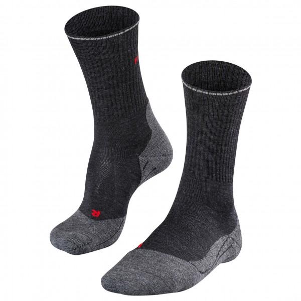 Falke - Tk2 Wool Silk - Walking Socks Size 44-45  Black/grey