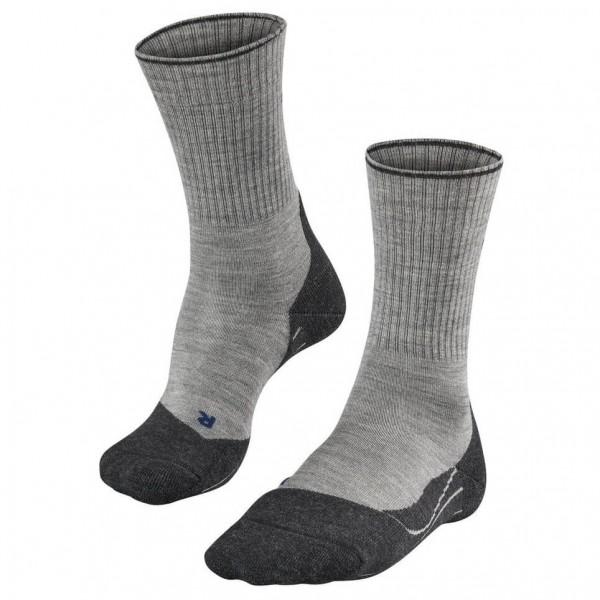 Falke - Tk2 Wool Silk - Walking Socks Size 44-45  Grey/black