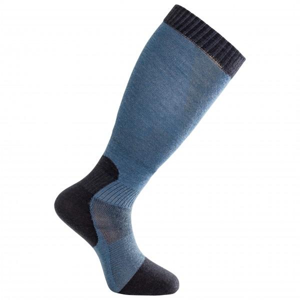 Woolpower - Socks Skilled Liner Knee-high - Sports Socks Size 45-48  Blue/black