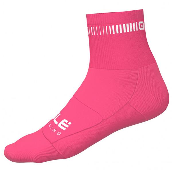 #Alé – Logo Q-Skin Socks – Radsocken Gr 44/47 rosa#