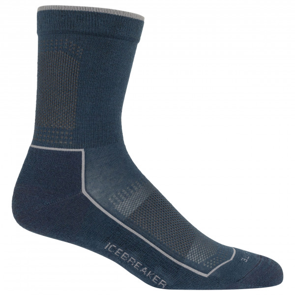 Icebreaker - Lifestyle Cool Lite Light 3q Crew - Sports Socks Size S  Black/blue