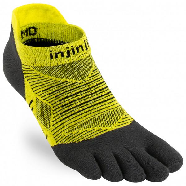 Injinji - Run Lightweight No-show - Running Socks Size L  Black/yellow/olive