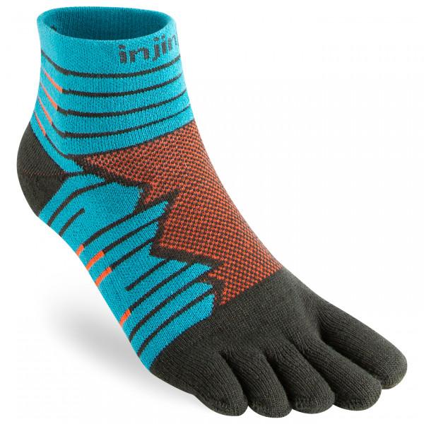 Injinji - Run Technical Mini-crew - Running Socks Size L  Turquoise/black