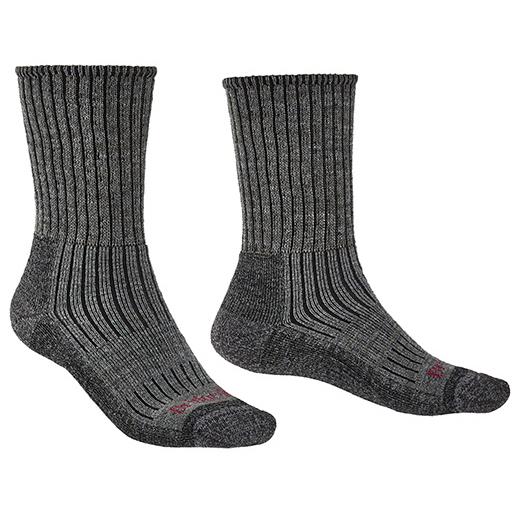 Bridgedale - Hike Midweight Merino Comfort - Walking Socks Size Xl  Black/grey