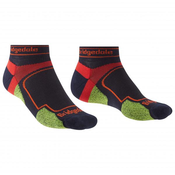 Bridgedale - Trail Run Ultralight Coolmax Sport Low I - Running Socks Size L  Black/red