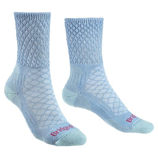 Bridgedale - Womens Hike Lightweight Merino Comfort - Walking Socks Size S  Grey