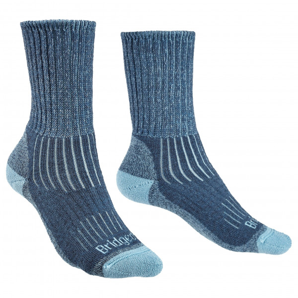 Bridgedale - Womens Hike Midweight Merino Comfort - Walking Socks Size L  Blue/grey