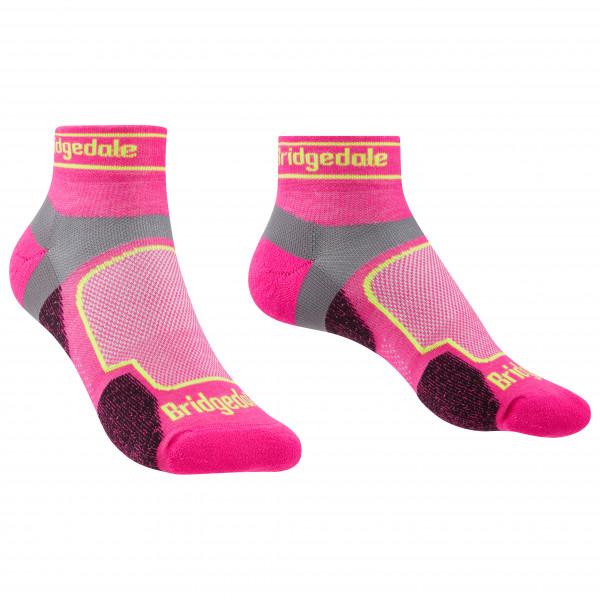 Bridgedale - Womens Trail Run Ultralight Coolmax Sport Low I - Running Socks Size L  Pink