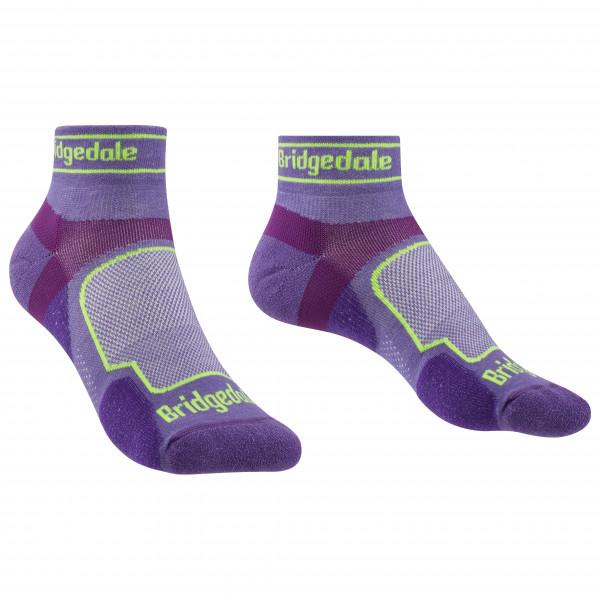 Bridgedale - Womens Trail Run Ultralight Coolmax Sport Low I - Running Socks Size M  Purple/grey