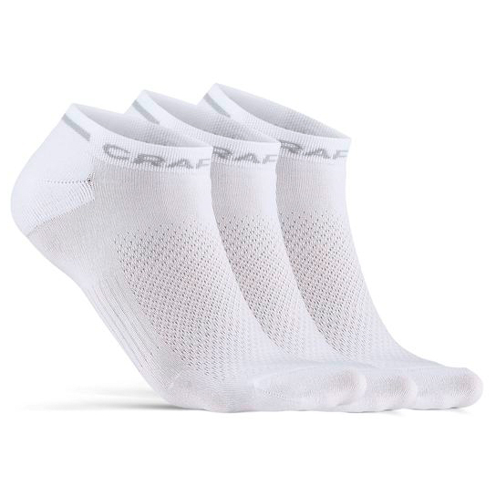 Craft - Core Dry Shafless Sock 3-pack - Cycling Socks Size 46/48  Grey/white