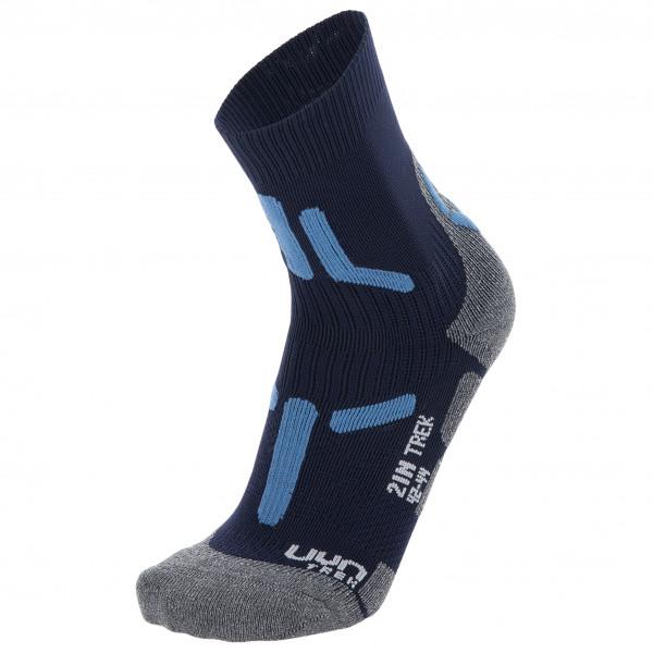 Uyn - Trekking 2in Socks - Walking Socks Size 42/44  Black/grey/blue