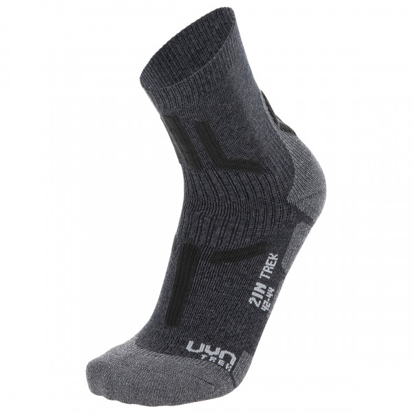 Uyn - Trekking 2in Socks - Walking Socks Size 45/47  Black/grey