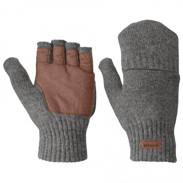 Outdoor Research - Lost Coast Fingerless Mitt - Gloves Size Xl  Grey/black/brown