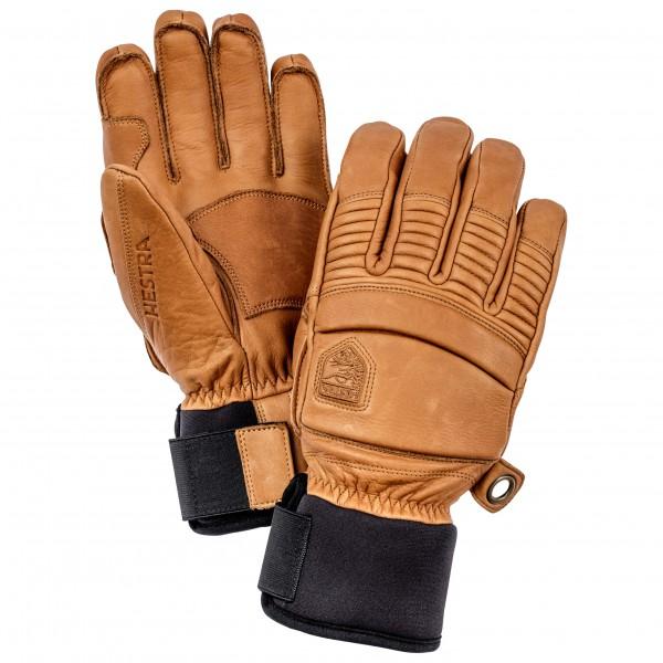 Hestra - Leather Fall Line 5 Finger - Gloves Size 9  Brown/sand/orange/black