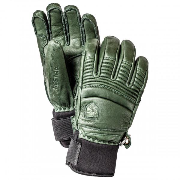 Hestra - Leather Fall Line 5 Finger - Gloves Size 8  Olive/grey/black