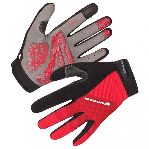 Endura - Hummvee Plus Glove - Handschuhe Gr M schwarz/rot/grau