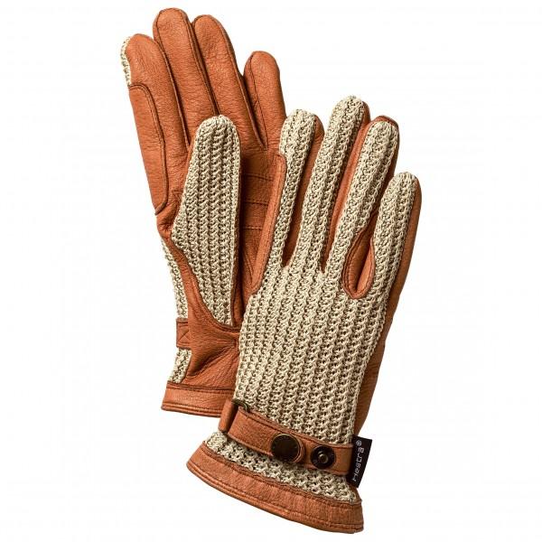 Hestra - Deerskin Crochet 5 Finger Handschuhe Gr 7;7,5;8 braun/beige;braun/beige/schwarz Sale Angebote Gablenz