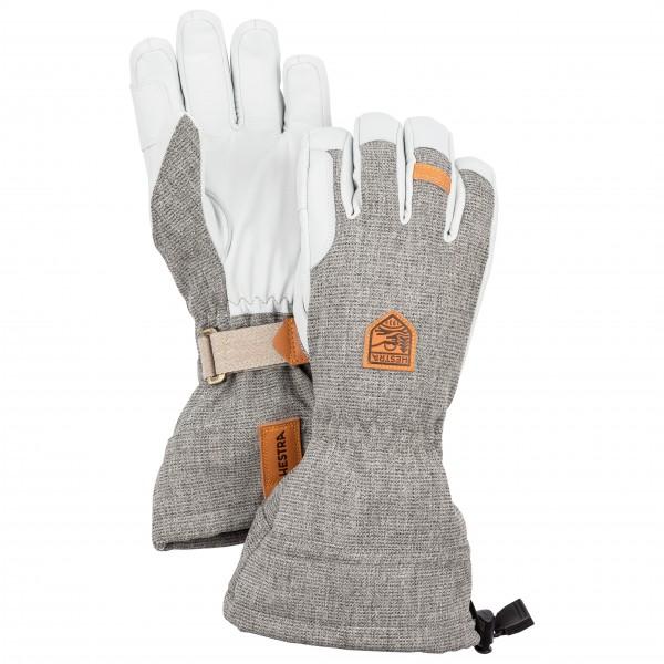 Hestra - Army Leather Patrol Gauntlet 5 Finger - Gloves Size 10  Grey/white