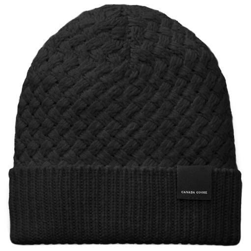 Canada Goose - Ladies Basket Stitch Toque - Mütze Gr One Size schwarz Preisvergleich