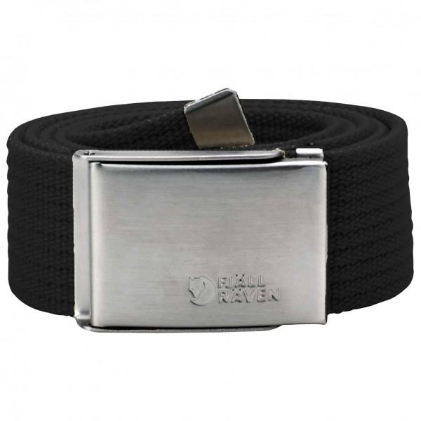 Fjllrven - Canvas Belt - Belt Size One Size  Grey/black