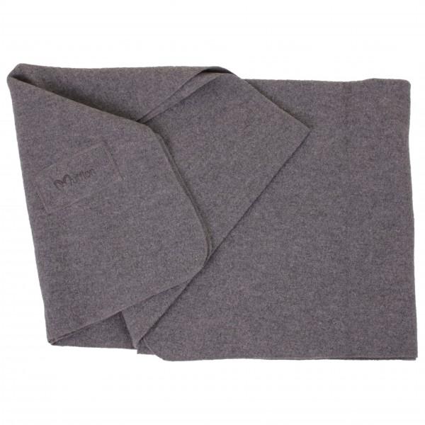 Blanket Logo - Wolldecke grau