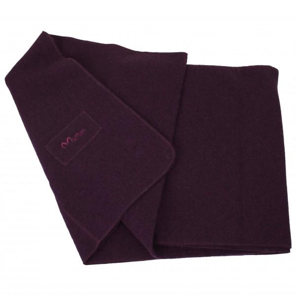 Blanket Logo - Wolldecke lila